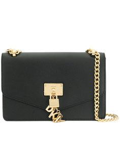 сумка на плечо с замком DKNY