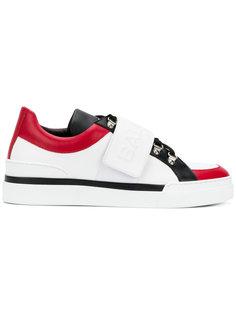 кроссовки на липучках с логотипом Balmain
