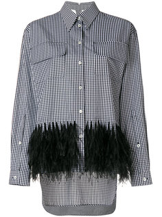 feathered checked shirt  Nº21