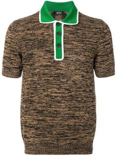 contrast collar T-shirt Nº21