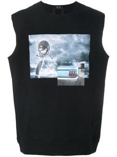 photo print sleeveless T-shirt Nº21