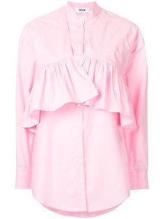 многослойная рубашка с оборкой  MSGM