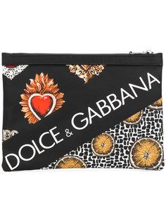 клатч с принтом логотипа Dolce & Gabbana