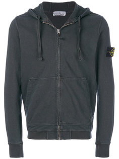 logo patch hooded jacket Stone Island