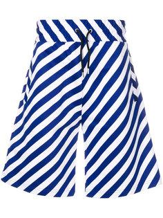 спортивные шорты в диагональную полоску Kenzo