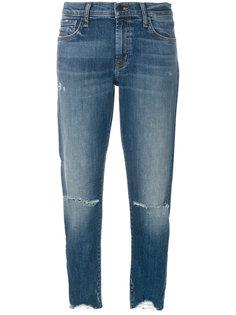 укороченные джинсы скинни  J Brand