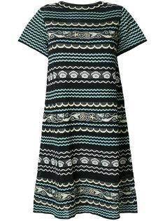 трикотажное платье мини с эффектом металлик M Missoni