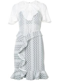 двухслойное ажурное платье с оборками Three Floor