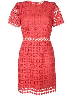 кружевное платье с геометрическим и цветочным узором Michael Michael Kors