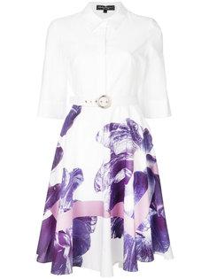 платье-рубашка с цветочным принтом  Salvatore Ferragamo