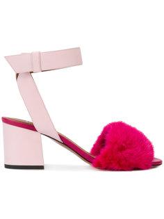 босоножки с норковым мехом Givenchy