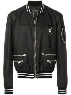 куртка-бомбер с металлическим деталями Les Hommes
