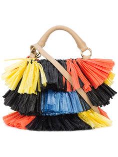 сумка из рафии с бахромой Dvf Diane Von Furstenberg
