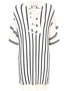 layered striped knit dress Self-Portrait