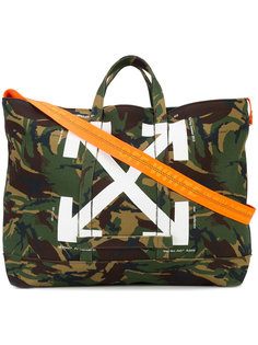 camouflage printed tote Off-White