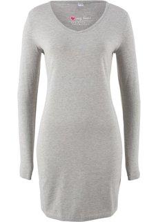 Платье с клинообразным вырезом (светло-серый меланж) Bonprix