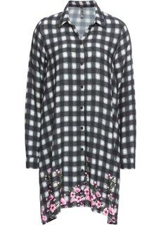 Платье рубашечного покроя (черный/кремовый в клетку) Bonprix