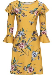 Платье с воланами (желтый в цветочек) Bonprix