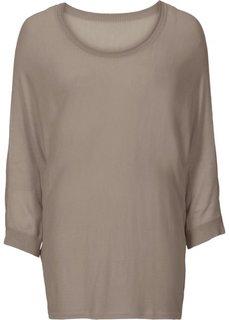 Пуловер (серо-коричневый) Bonprix