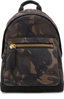 Кожаный рюкзак с камуфляжным принтом Tom Ford