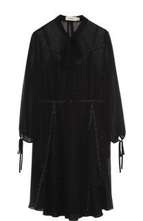 Полупрозрачное мини-платье с укороченным рукавом Coach