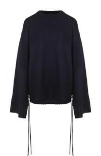Однотонный пуловер свободного кроя с круглым вырезом Mother Of Pearl