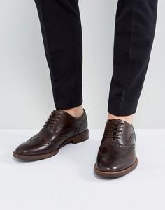 Коричневые кожаные броги ALDO Bartolello - Коричневый