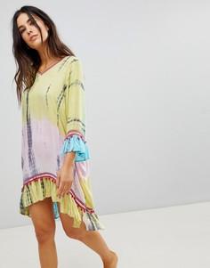 Пляжное платье с вышивкой Anmol - Мульти