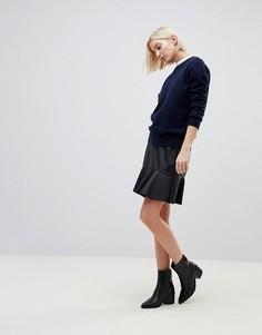 Полиуретановая юбка с баской b.Young - Черный