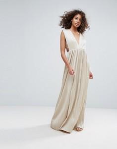 Платье макси Glamorous - Бежевый