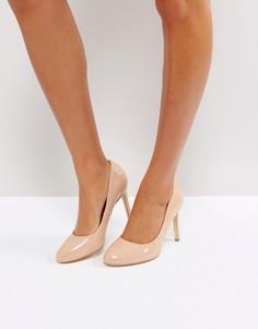 Туфли на высоком каблуке с круглым носком London Rebel - Бежевый