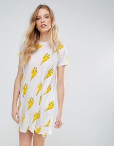 Платье-футболка с принтом Cheap Monday - Белый