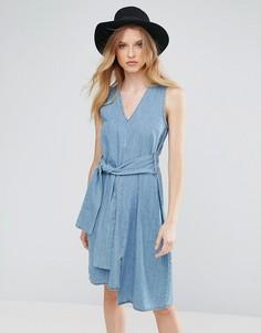 Джинсовое платье с поясом Cheap Monday Rizzle - Синий