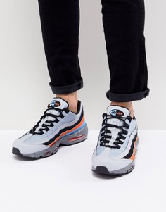 Серые кроссовки Nike Air Max 95 Premium 538416-015 - Серый