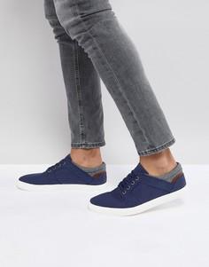 Темно-синие кеды на шнуровке из искусственной замши ASOS - Темно-синий