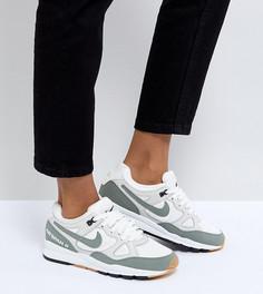Белые кроссовки со вставками цвета хаки Nike Air Span Ii - Зеленый