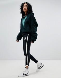 Черные леггинсы с отделкой Nike Archive - Черный