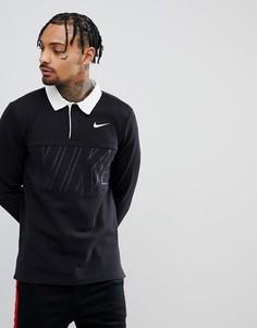 Черный топ регби Nike SB 885847-010 - Черный