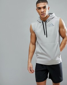 Серый худи без рукавов adidas Training CD7844 - Серый
