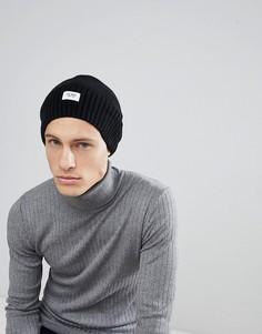 Черная шапка-бини в стиле oversize с добавлением шерсти Esprit - Черный