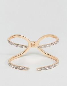 Браслет-манжета в виде лапы с камнями ALDO - Золотой