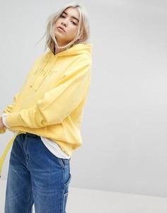 Oversize-худи с вышитым логотипом Rip N Dip - Желтый