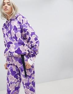 Комбинируемый камуфляжный oversize-худи Rip N Dip - Фиолетовый