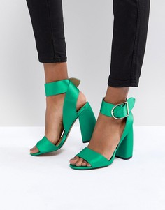 Босоножки на каблуке ASOS HELTER SKELTER - Зеленый