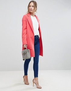 Пальто с карманами ASOS - Розовый