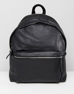 Черный кожаный рюкзак Eastpak 24L - Черный