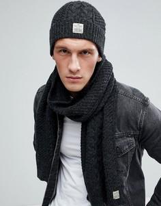 Комплект из шапки и шарфа Jack & Jones - Серый