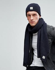 Комплект из шапки и шарфа Jack & Jones - Темно-синий