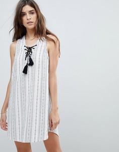 Пляжное платье в полоску Rhythm - Белый
