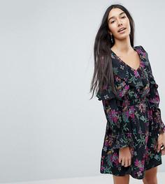 Платье с цветочным принтом и оборками Influence Tall - Мульти